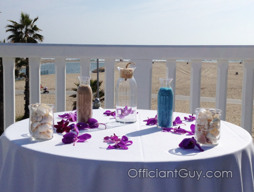 sand wedding ceremonies, wedding minister Los Angeles