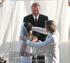 Milla Jovovich and Paul Anderson wedding
