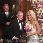 Hugh Hefner wedding officiant